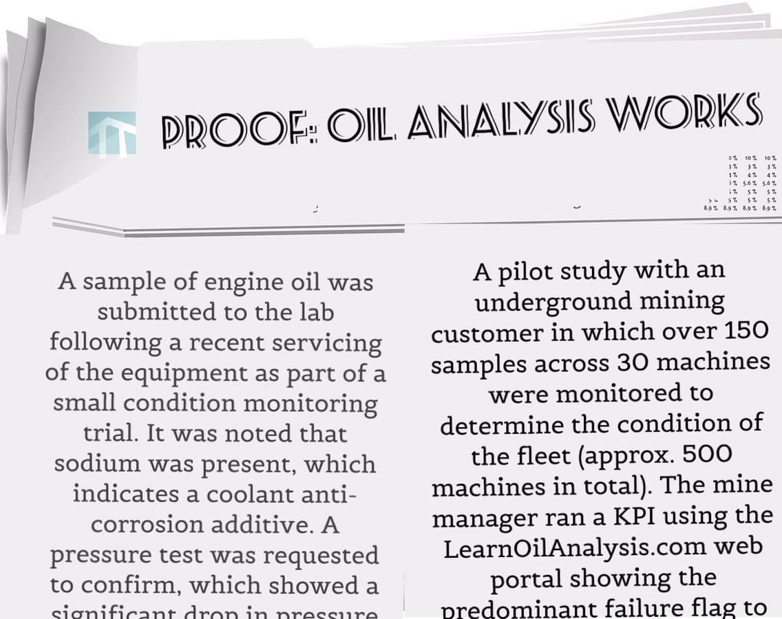 Case Studies - How Oil Analysis saves you Money