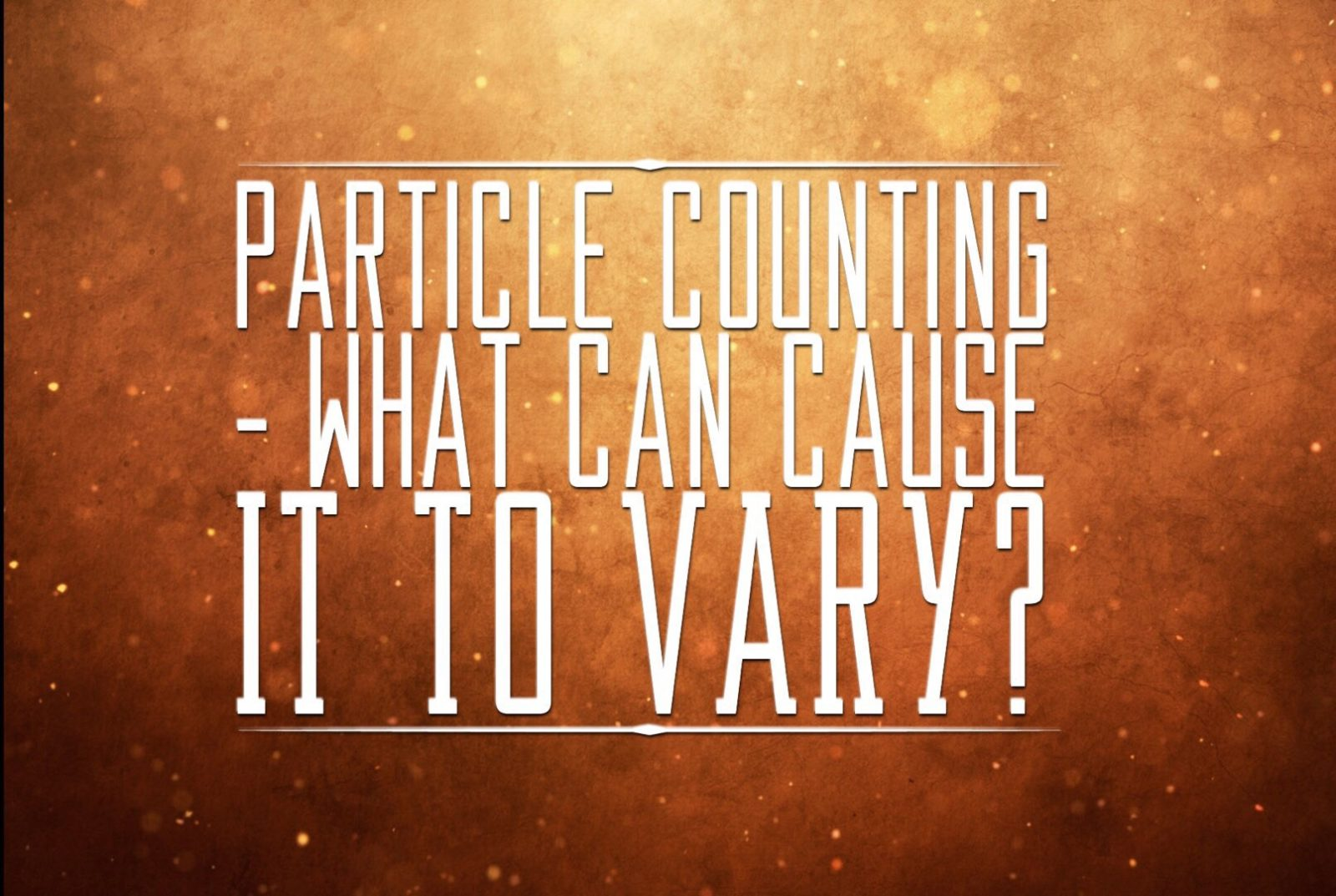Why do particle counters differ in results?