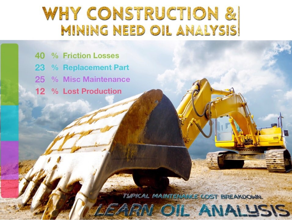 Why construction, mining, agriculture & forestry industries use oil analysis?