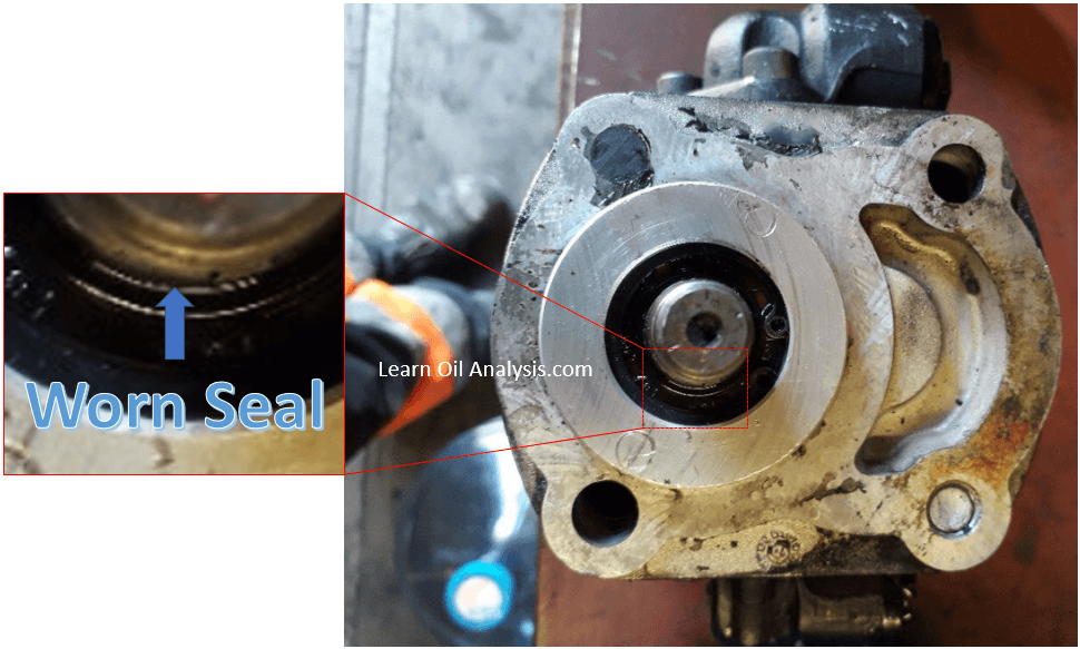worn seal pump Should I worry if I see metal particles in my lube oil?