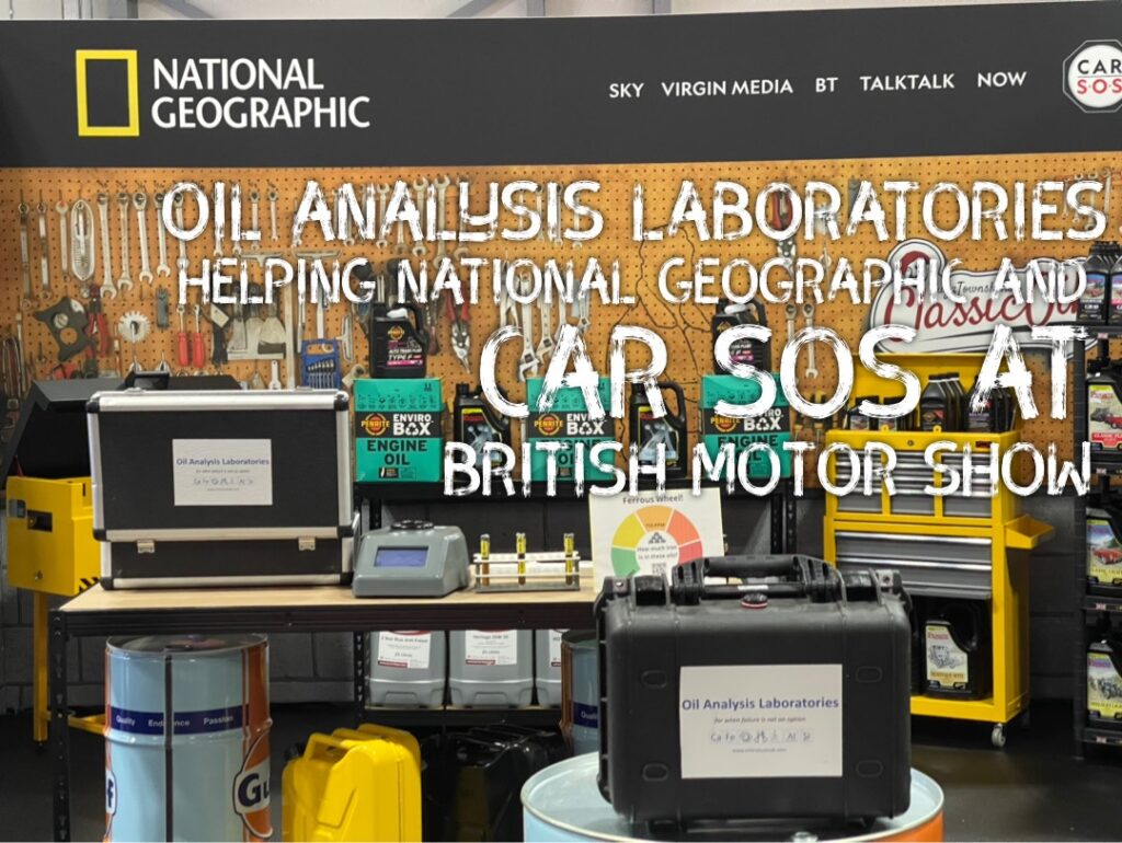 img 2327 1024x770 Oil Analysis Labs invited to help Car SOS and National Geographic at the British Motor Show with live testing demonstrations
