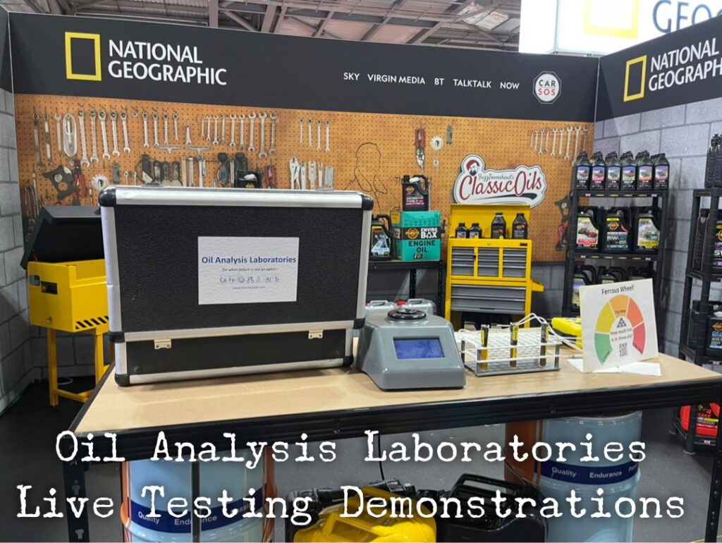 img 2328 1024x770 Oil Analysis Labs invited to help Car SOS and National Geographic at the British Motor Show with live testing demonstrations