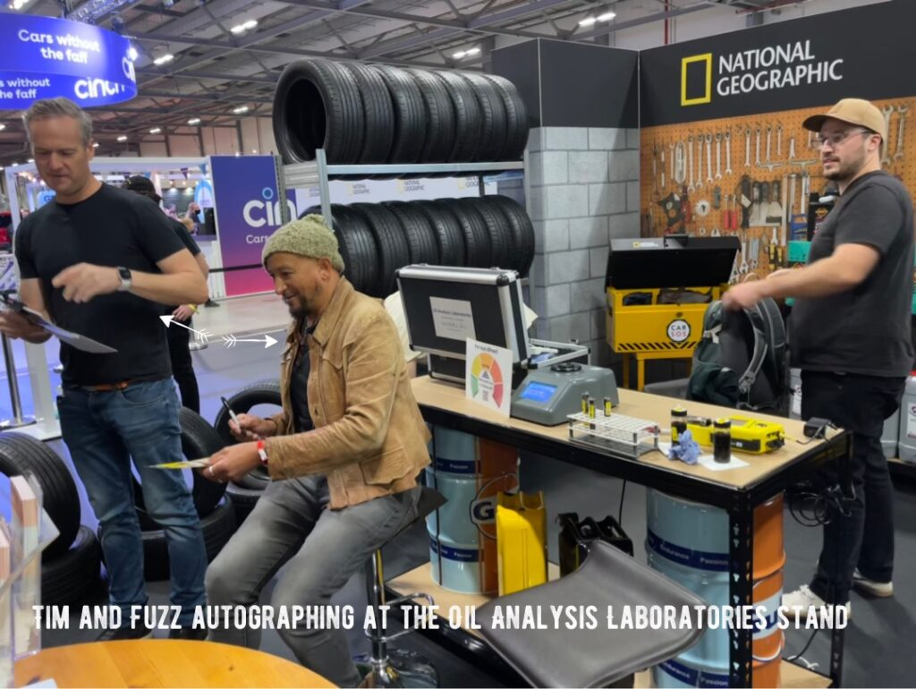 img 2364 1024x770 Oil Analysis Labs invited to help Car SOS and National Geographic at the British Motor Show with live testing demonstrations