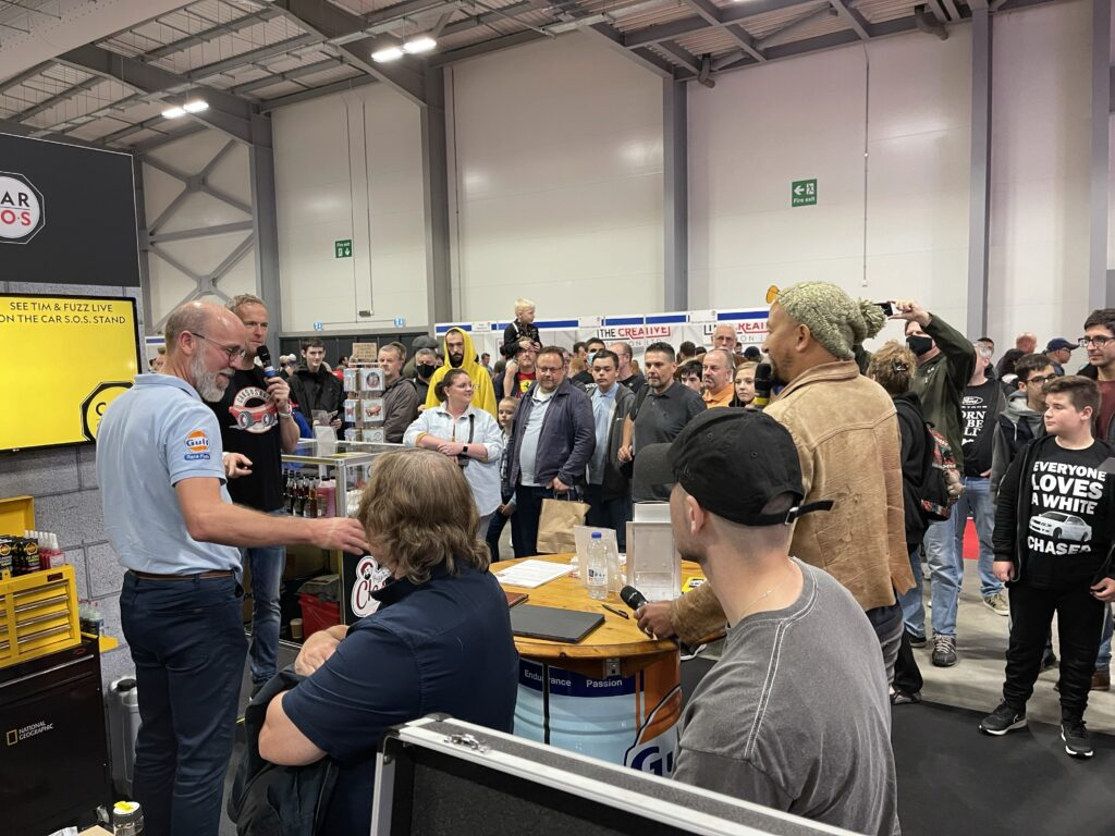 img 2422 1024x768 Oil Analysis Labs invited to help Car SOS and National Geographic at the British Motor Show with live testing demonstrations